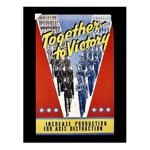 Together To Victory Postcards
