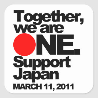 """""""Together we are ONE. Support Japan"""" Sticker"""