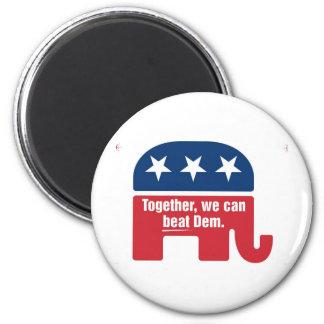Together we can beat Dem ! Magnet