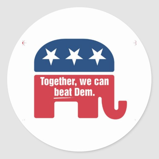 Together we can beat Dem ! Stickers