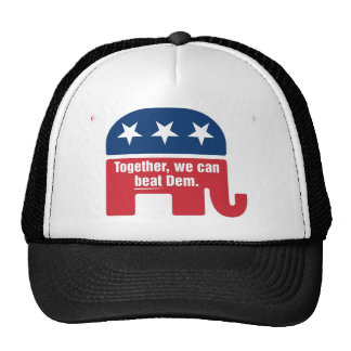 Together we can beat Dem ! Trucker Hat