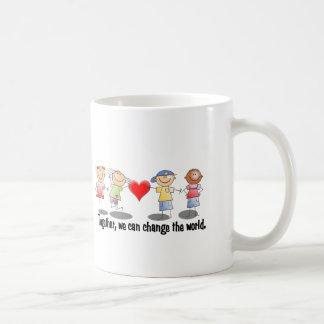 Together, we can change the world classic white coffee mug