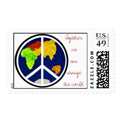 Together we can change the world US Postage Stamp