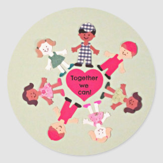 Together We Can! Classic Round Sticker