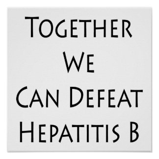 Together We Can Defeat Hepatitis B Poster