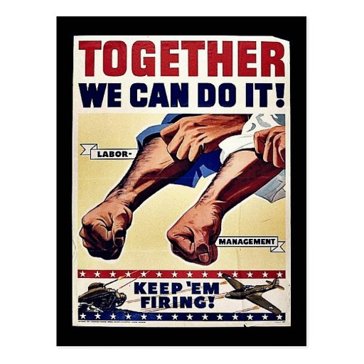 Together We Can Do It! Postcard