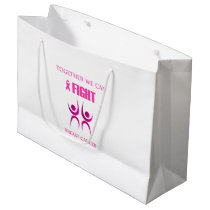 Together we can fight breast cancer large gift bag