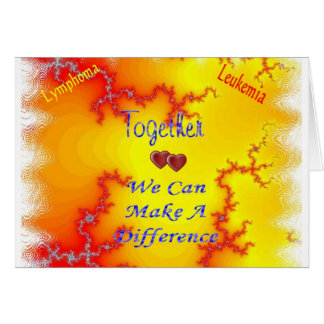 Together We Can Fight Leukemia Card