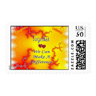Together We Can Fight Leukemia Postage