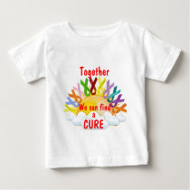 Together we can find a CURE Baby T-Shirt