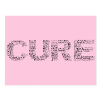 Together We Can Find a Cure (Black Text) Postcard
