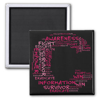 Together We Can Find a Cure (C - Part of Set) 2 Inch Square Magnet
