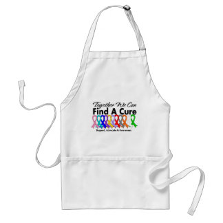 Together We Can Find A Cure Cancer Adult Apron