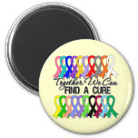 Together We Can Find a Cure Cancer Ribbons Fridge Magnets