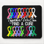 Together We Can Find a Cure Cancer Ribbons Mouse Pad