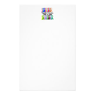 Together We Can Find A Cure CANCER RIBBONS Stationery