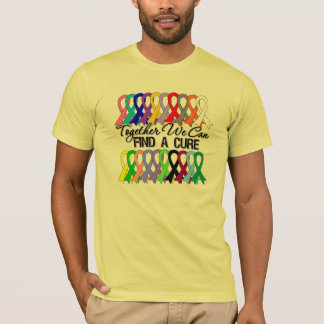 Together We Can Find a Cure Cancer Ribbons T-Shirt