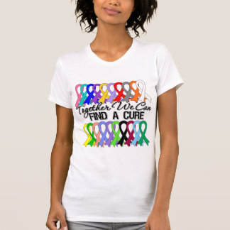 Together We Can Find a Cure Cancer Ribbons Shirts