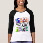 Together We Can Find a Cure Cancer Ribbons T Shirts