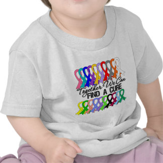 Together We Can Find a Cure Cancer Ribbons T Shirt