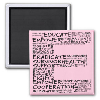 Together We Can Find a Cure (E - Part of Set) 2 Inch Square Magnet