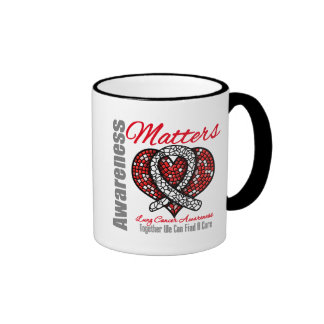 Together We Can Find A Cure - Lung Cancer Ringer Coffee Mug