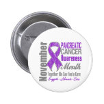 Together We Can Find a Cure - Pancreatic  Cancer Buttons