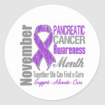Together We Can Find a Cure - Pancreatic  Cancer Round Sticker