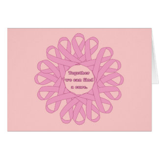 Together We Can Find a Cure Pink Ribbons Card
