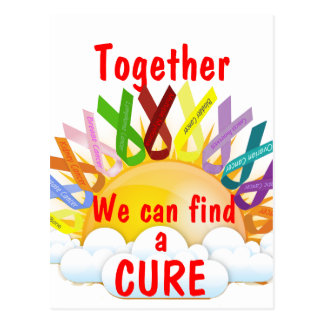 Together we can find a CURE Postcard