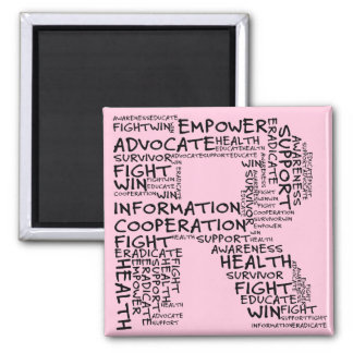 Together We Can Find a Cure (R - Part of Set) 2 Inch Square Magnet