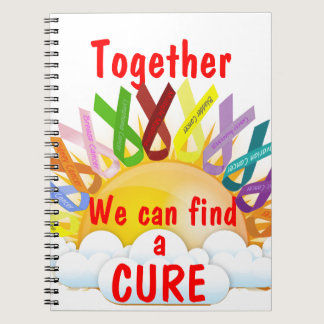 Together we can find a CURE Spiral Notebook