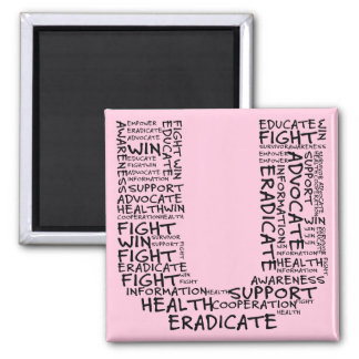 Together We Can Find a Cure (U - Part of Set) 2 Inch Square Magnet