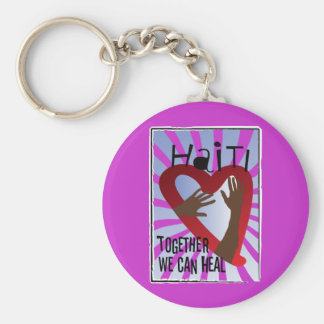 Together we can Heal - Support Haiti Keychain
