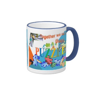 Together we can make a Puzzle Ringer Coffee Mug