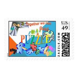 Together we can make a PuzzlePostage Postage Stamps