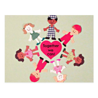 Together We Can! Postcard