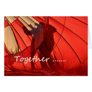 Together We Can Really Soar Hot Air Balloon Card