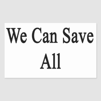Together We Can Save All The Elephants Rectangular Sticker