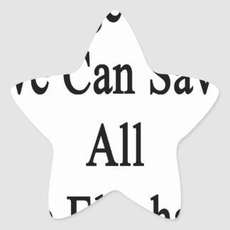 Together We Can Save All The Elephants Star Sticker