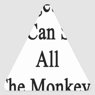 Together We Can Save All The Monkeys Triangle Sticker