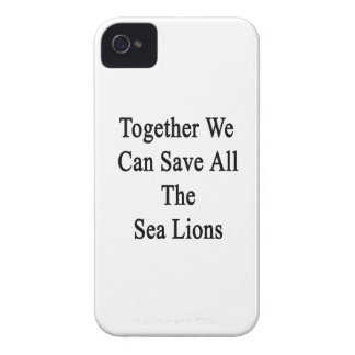 Together We Can Save All The Sea Lions iPhone 4 Case-Mate Case