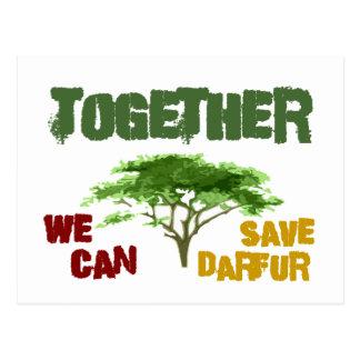 Together We Can Save Darfur 1 Postcard