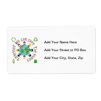 Together We Can Save the Planet Personalized Shipping Label