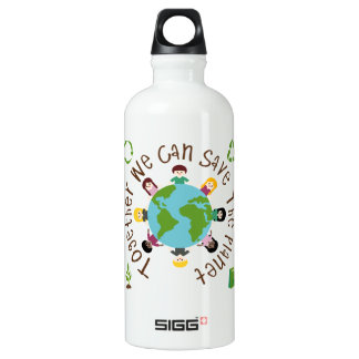 Together We Can Save the Planet Water Bottle
