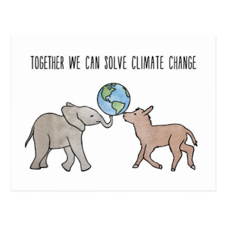Together We Can Solve Climate Change Postcard