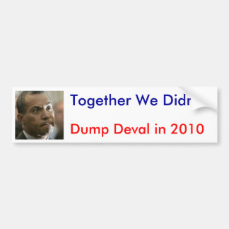 Together We Didn't Bumper Sticker