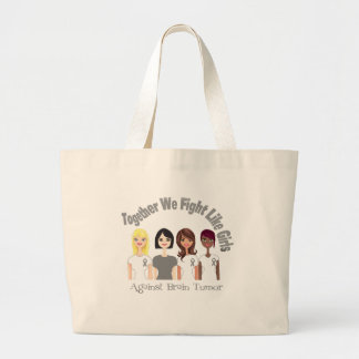 Together We Fight Like Girls Brain Tumor Canvas Bags