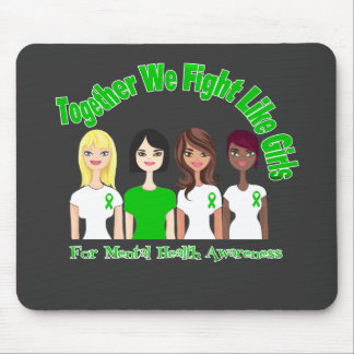 Together We Fight Like Girls Mental Health Mouse Pad