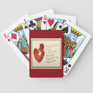 Together We Have Love Bicycle Playing Cards